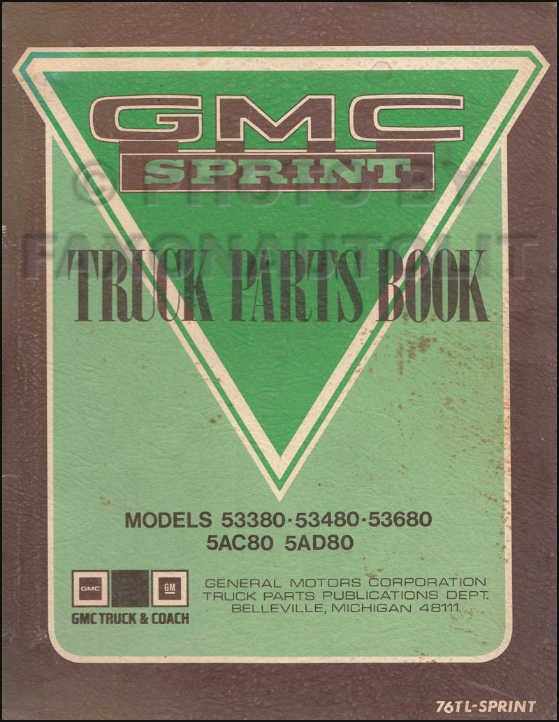 1971-1976 GMC Sprint Parts Book Original