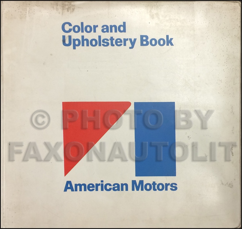 1971 AMC Color & Upholstery Dealer Album Original