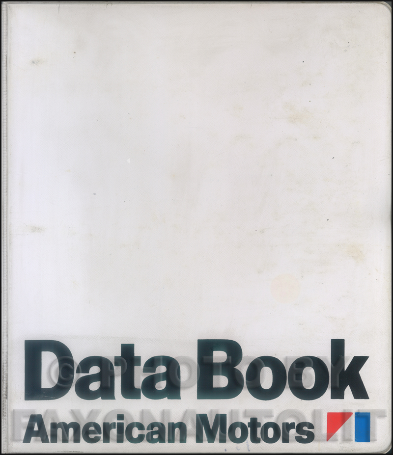 1971 AMC Data Book Original