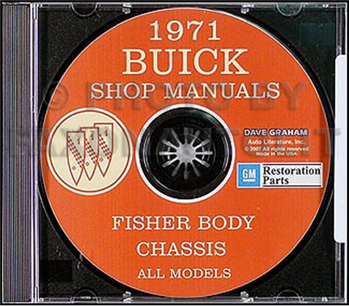 1971 Buick CD-ROM Shop Manual & Body Manual