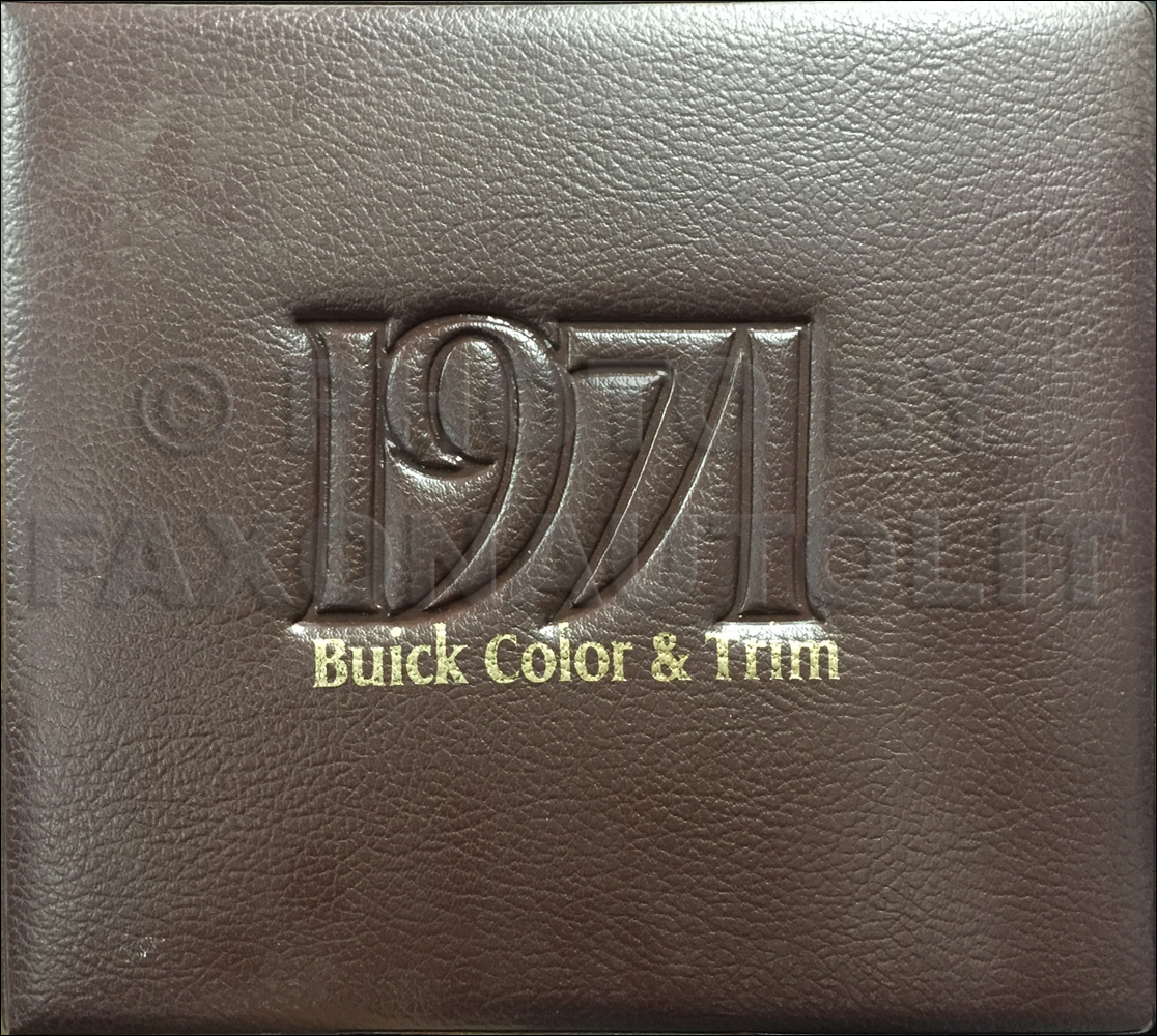 1971 Buick Color & Upholstery Album Book Original