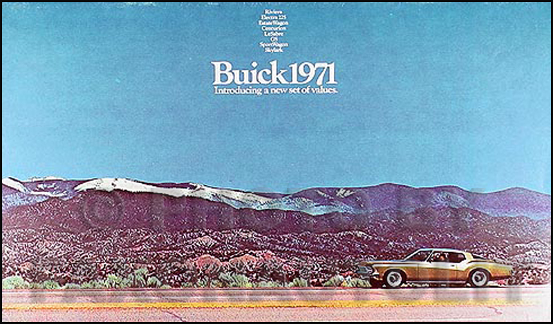 1971 Buick Sales Catalog Original--All Models