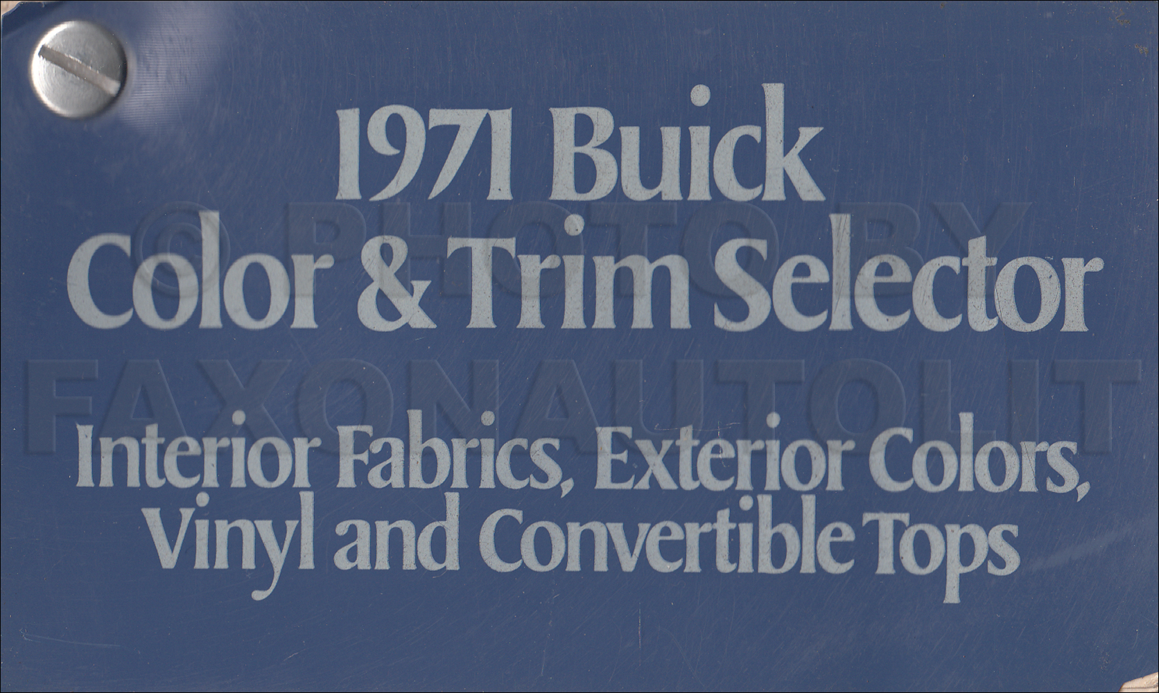 1971 Buick Color and Upholstery Sample Book Dealer Album Original
