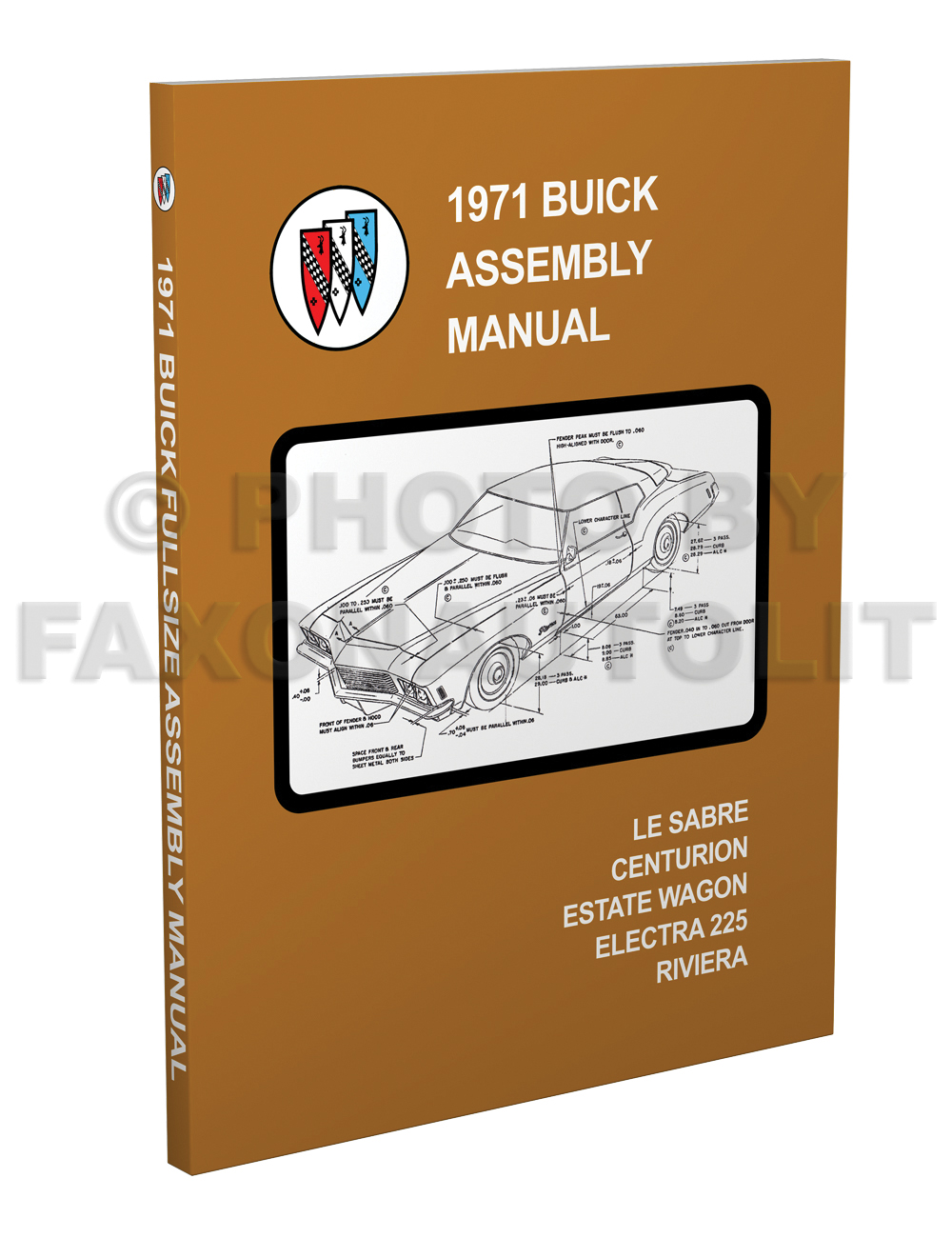 1971 Buick Assembly Manual LeSabre Centurion Electra Riviera Reprint