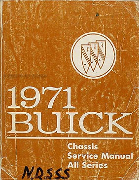 1971 Buick Shop Manual Original GS/Skylark/Riviera/LeSabre