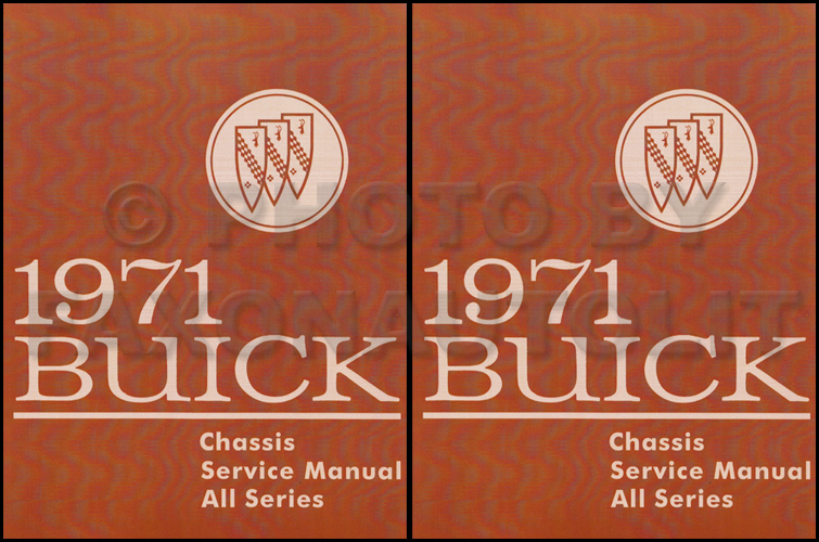 1971 Buick Shop Manual Reprint - All Models
