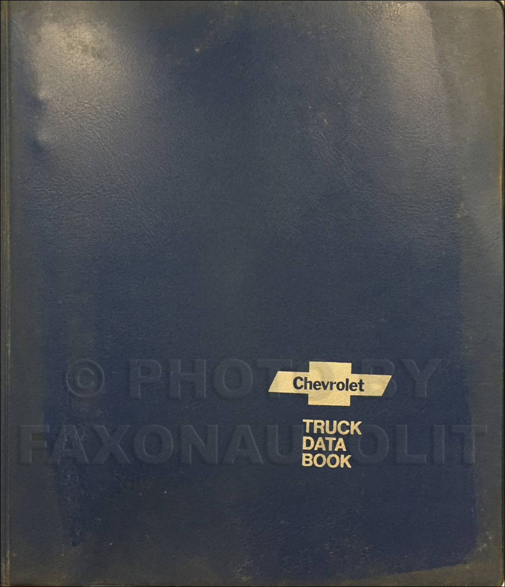 1971 Chevrolet Truck Data Book Original