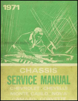 1971 Chevy Shop Manual Original -- Impala, Chevelle, El Camino, Monte Carlo, Camaro, Nova, Corvette