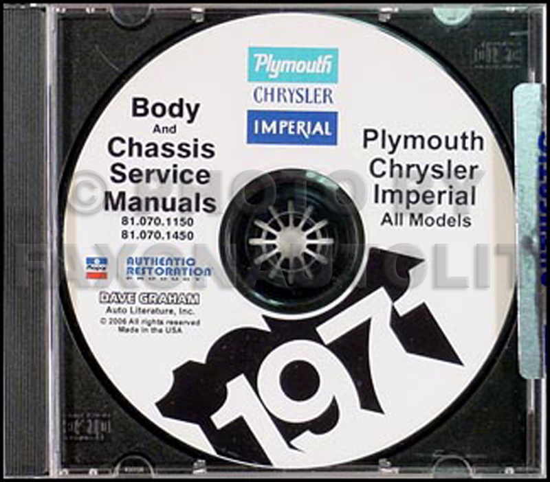 1971 Plymouth, Chrysler, & Imperial CD Shop Manual All Models