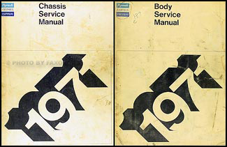 1971 Plymouth and Chrysler Repair Shop Manual Original 2 Volume Set