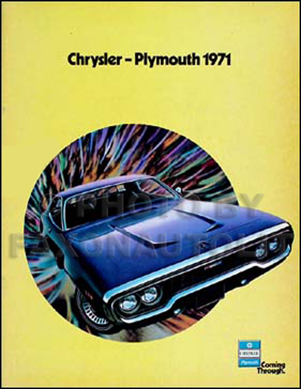 1971 Chrysler & Plymouth Original Sales Catalog -- Full-Line