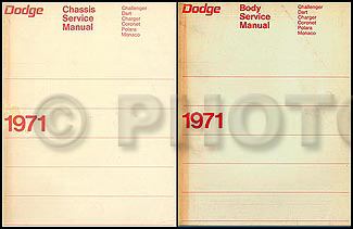 1971 Dodge Car Repair Manual Set Original