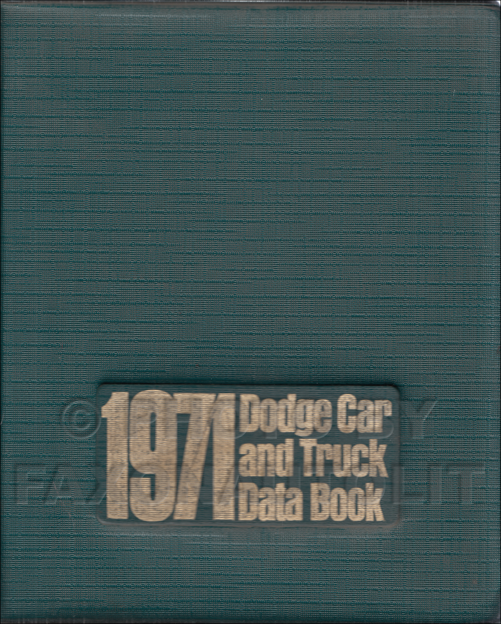 1971 Dodge Data Book Original