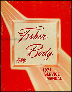 1971 Cadillac Body Repair Shop Manual Original