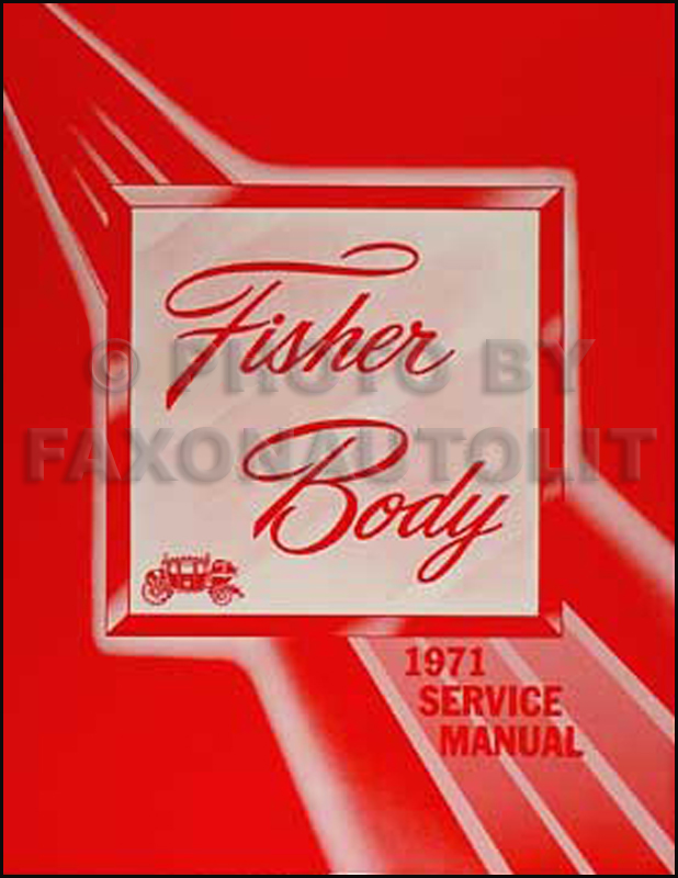 1971 Cadillac Body Repair Shop Manual Reprint