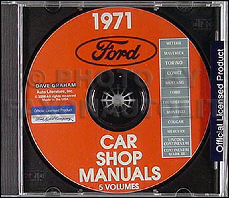 1971 Ford, Lincoln, Mercury Shop Manuals on CD-ROM