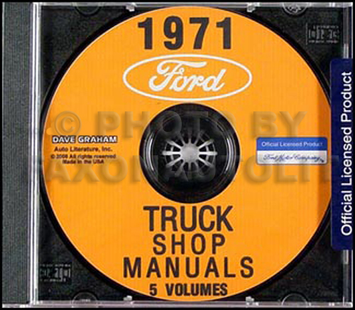 1971 Ford Truck Shop Manual Set on CD-ROM