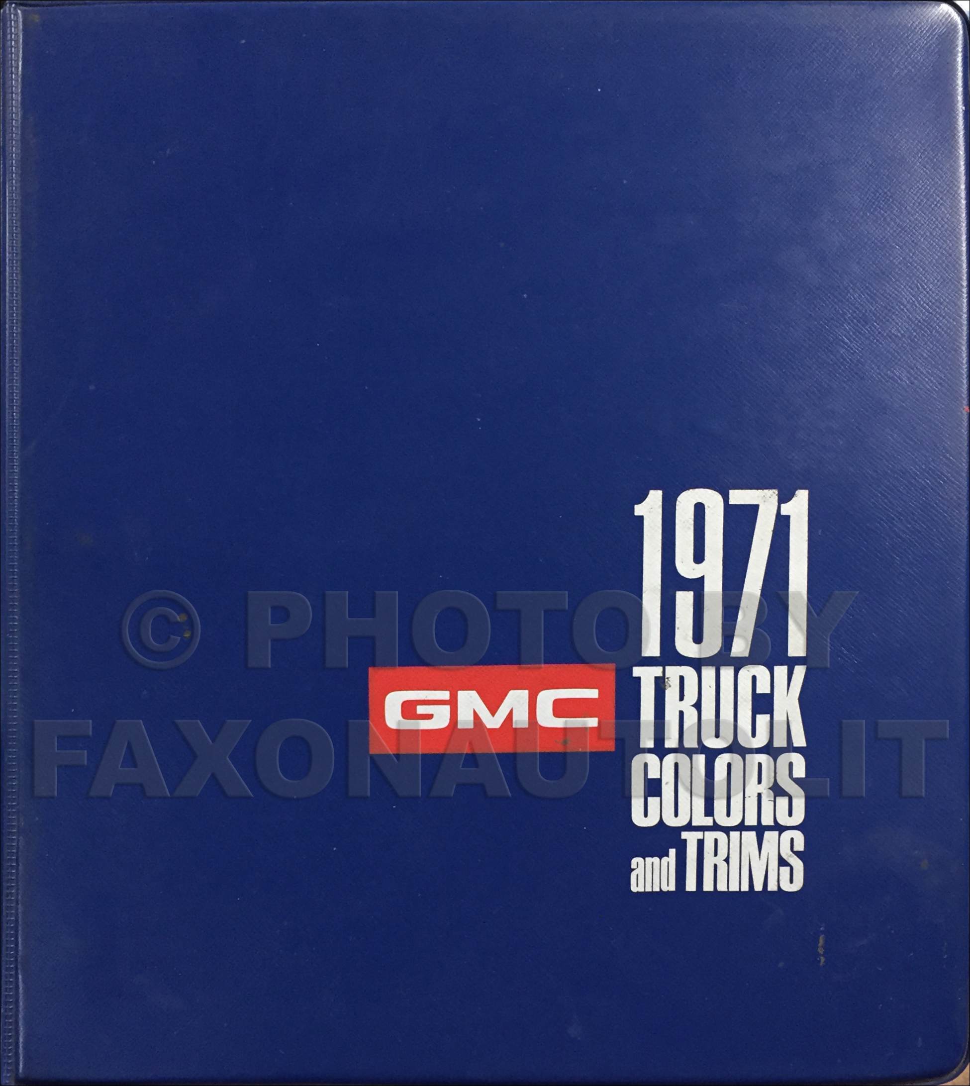 1971 GMC Color & Upholstery Dealer Album Original