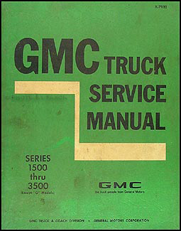 1971 GMC 1500-3500 Repair Shop Manual Original Pickup, Jimmy, Suburban, FC