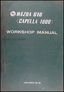 1971 Mazda 616 Capella 1600 Repair Manual Original
