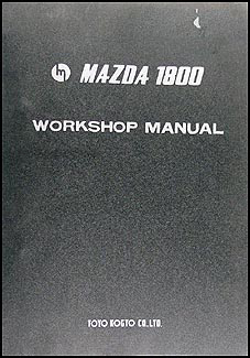 1970 1971 Mazda 1800 Repair Manual Original