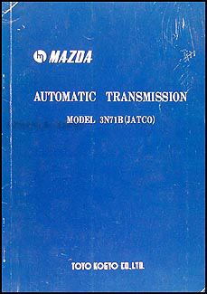 1971 Mazda 3N71B (JATCO) Automatic Transmission Repair Manual Original