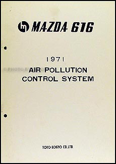 1971 Mazda 616 Air Pollution Control System Original