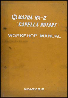 1970 1971 Mazda RX-2 Engine Repair Manual Original