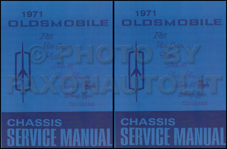 1971 Oldsmobile Shop Manual Reprint 442/Cutlass/88/98/Toronado