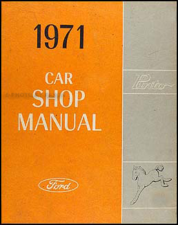 1971 Ford Pinto Repair Manual Original