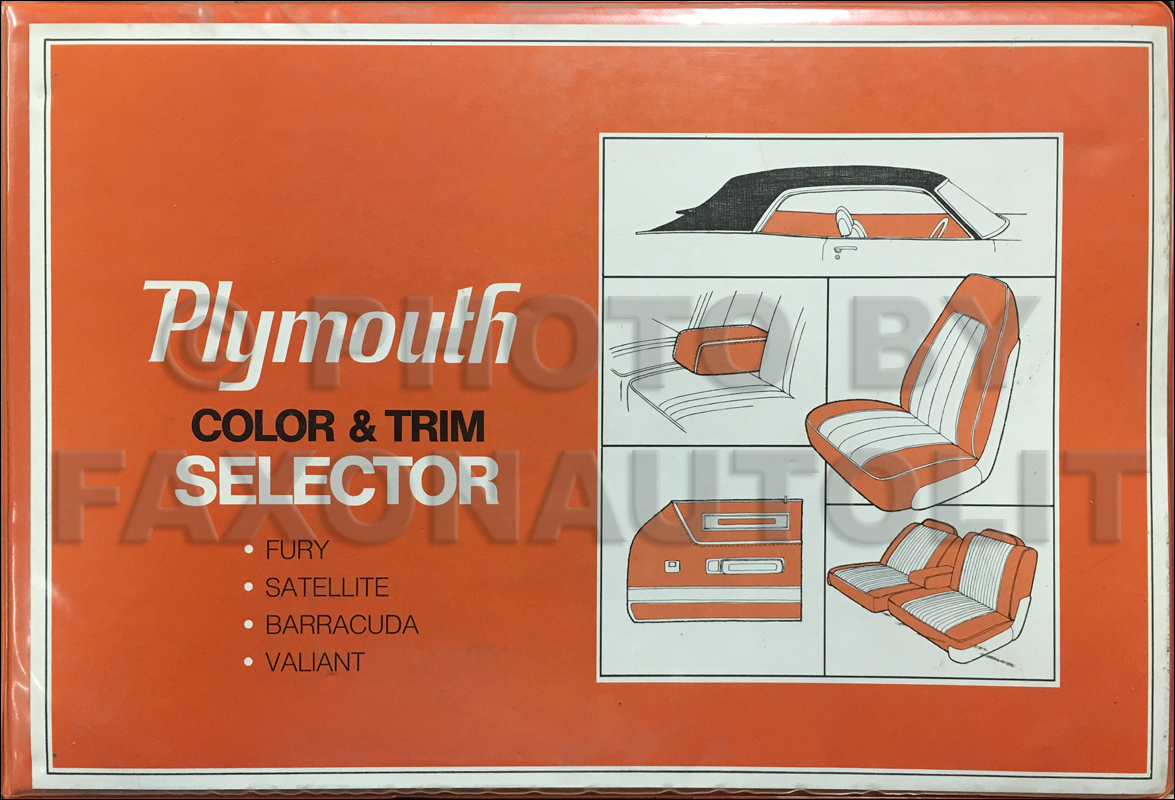 1971 Plymouth Color & Upholstery Album Original