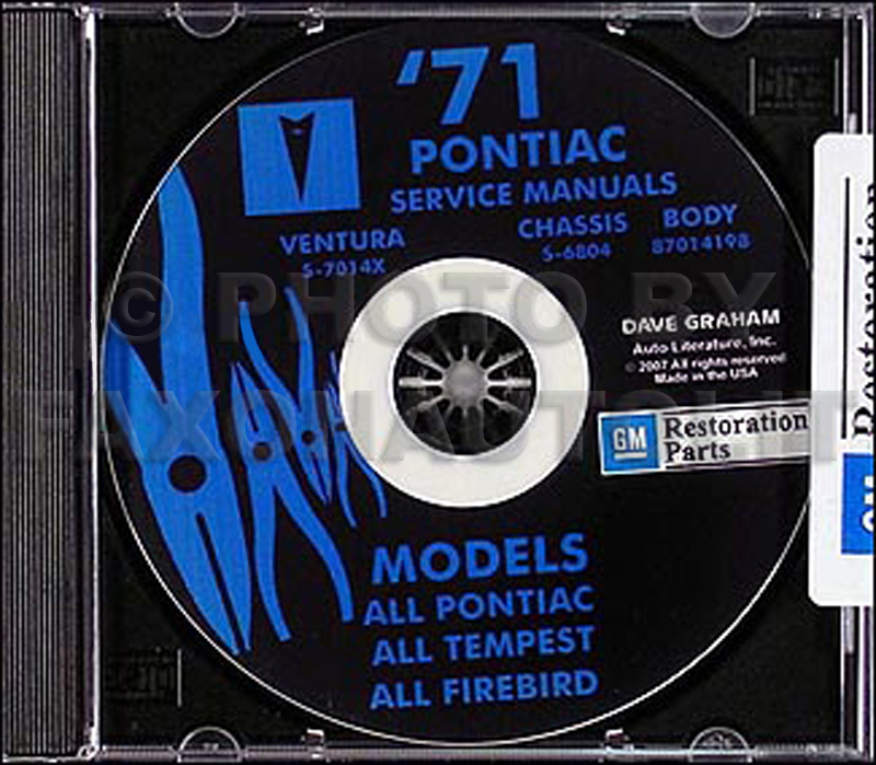 1971 Pontiac CD-ROM Shop & Body Manuals - All Models