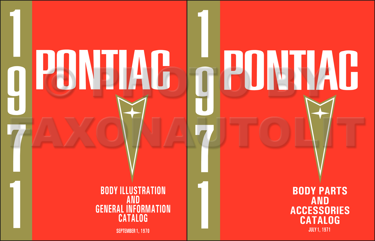 1964-1971 Pontiac Body Parts Catalog Reprint Set