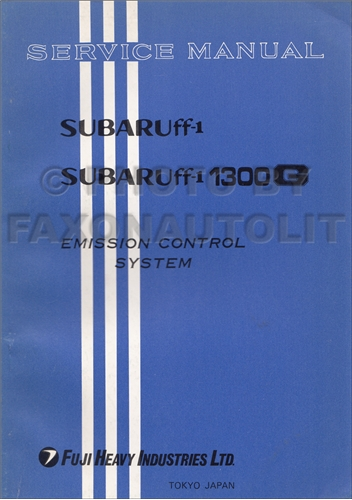 1971 Subaru 1100 and 1300G Emission Control Repair Shop Manual Original