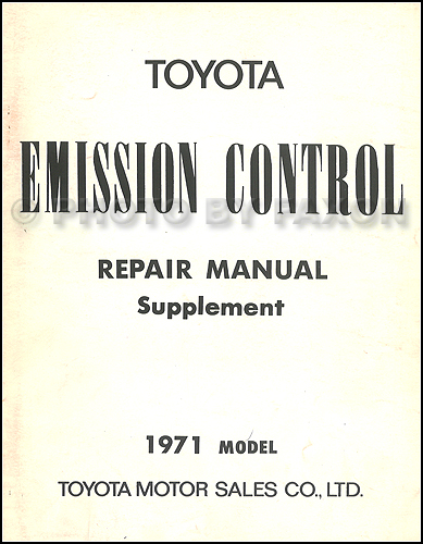 1971 Toyota Crown Air Injection Emission Control Manual Original Supplement No. 98051