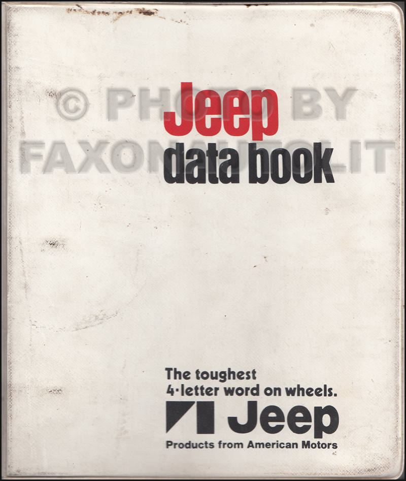 1971.5 Jeep Data Book Original