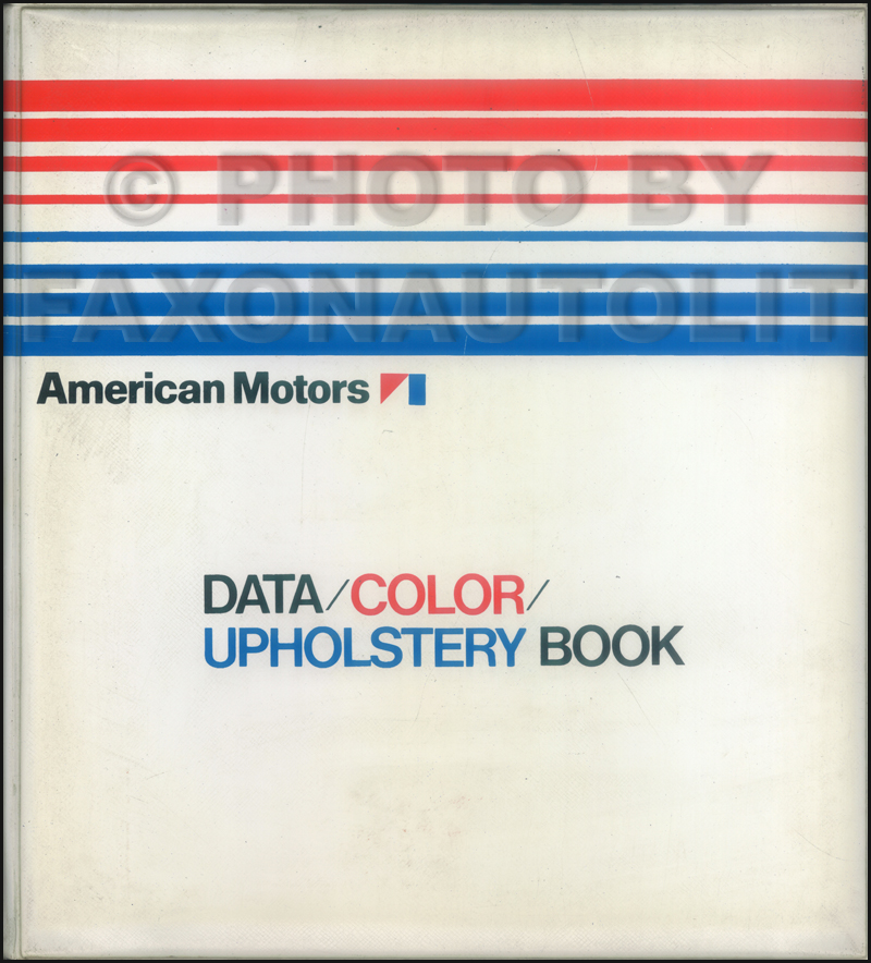 1972 AMC Color & Upholstery Album and Data Book Original