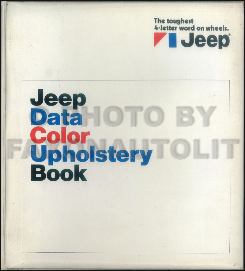 1972 Jeep Color & Upholstery Dealer Album/Data Book Original