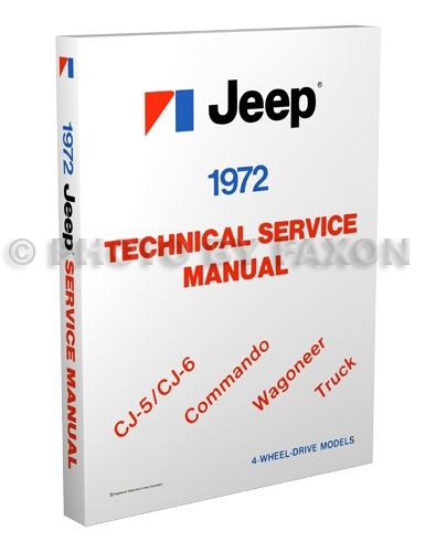 1972 Jeep Shop Manual Reprint- All models