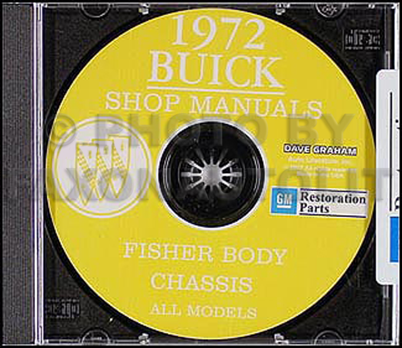 1972 Buick CD Shop Manual & Body Manual, all models