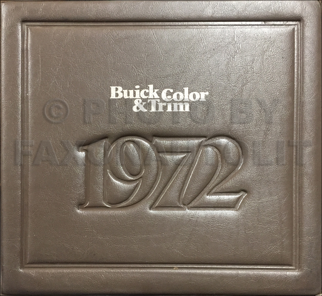 1972 Buick Color & Upholstery Album Book Original