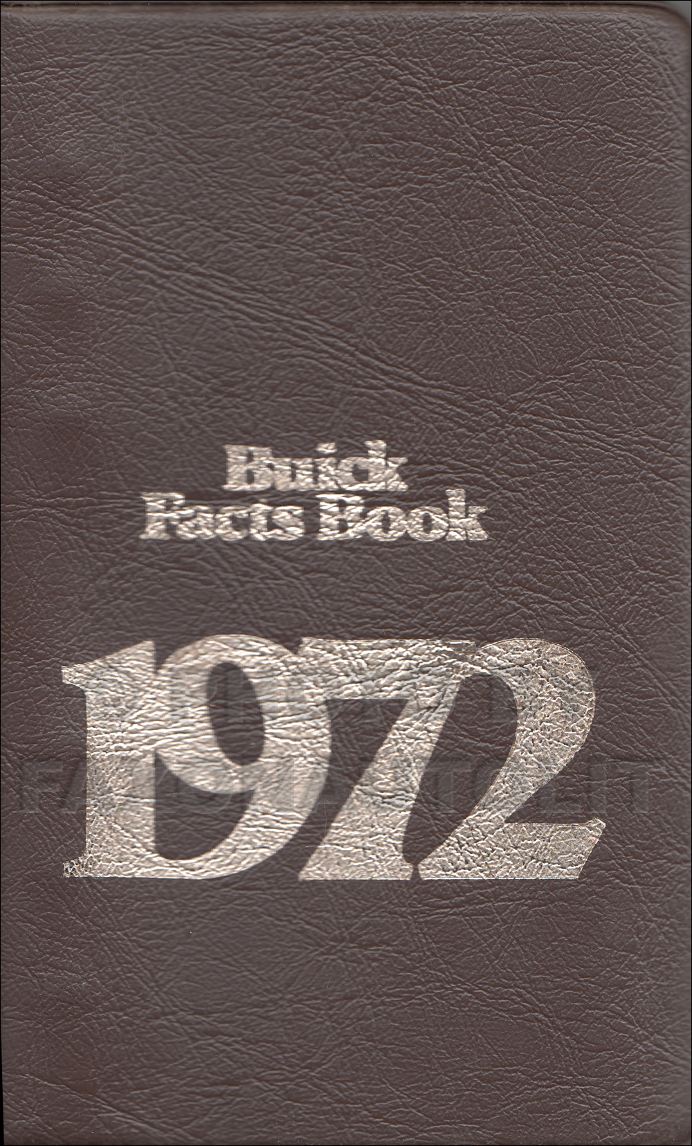 1972 Buick Facts Book Original
