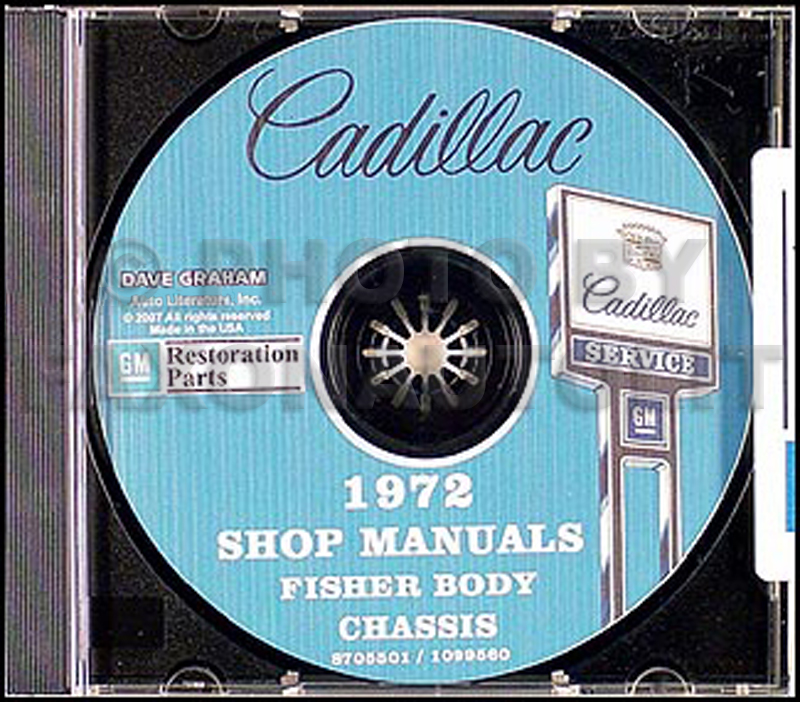 1972 Cadillac Shop Manual & Body Manual on CD-ROM
