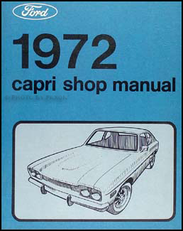 1972 Mercury Capri Repair Manual Original