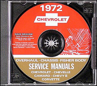 1972 Chevy CD-ROM Shop, Overhaul, & Body Manual