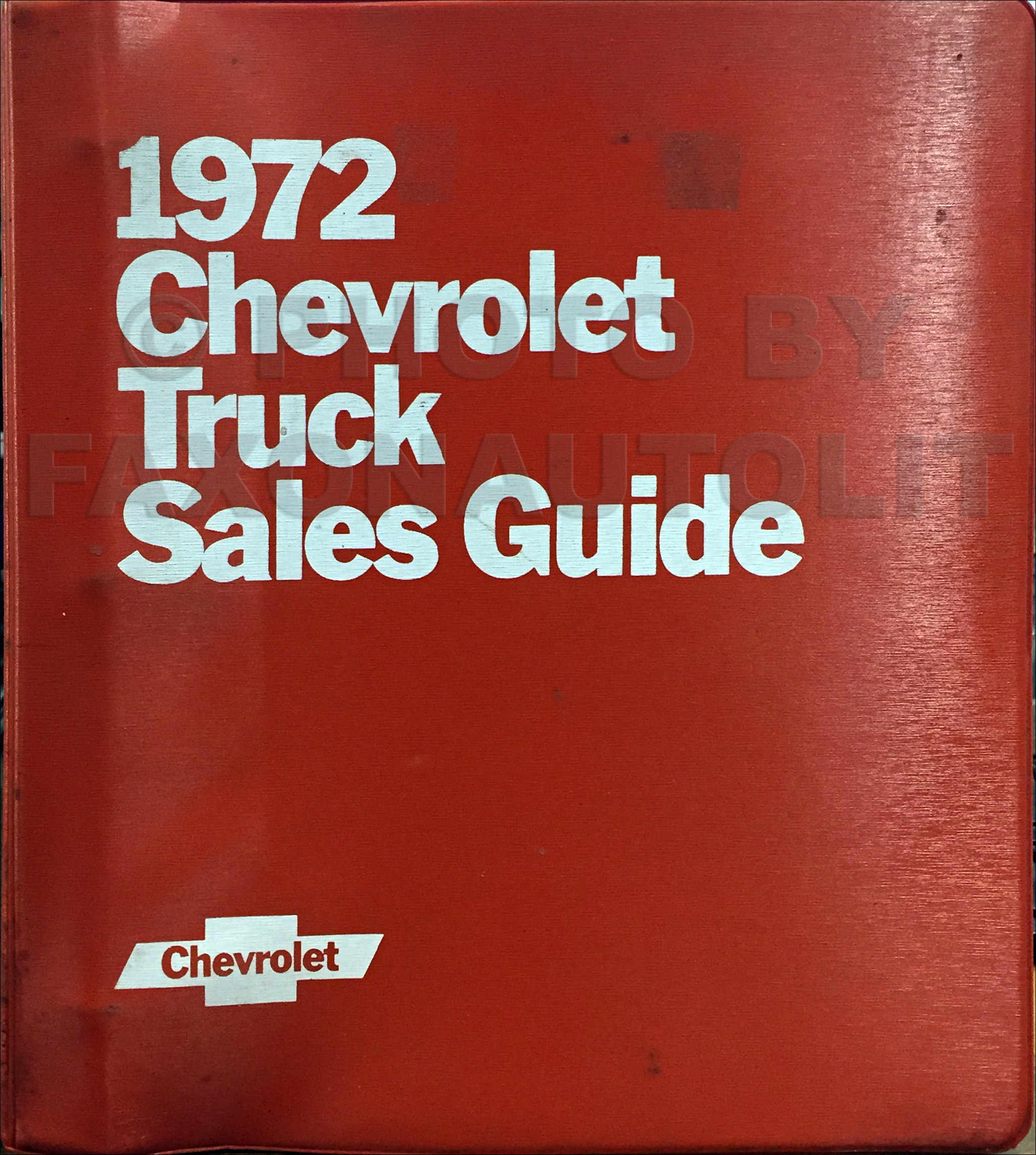 1972 Chevrolet Truck Sales Brochure Set in a Dealer Album