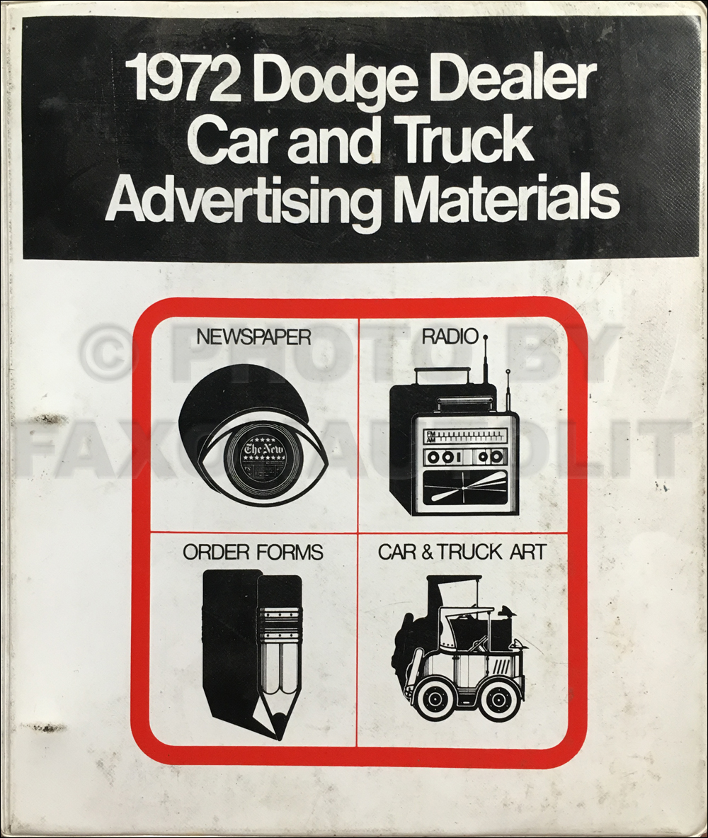 1972 Dodge Dealer Advertising Planner Original
