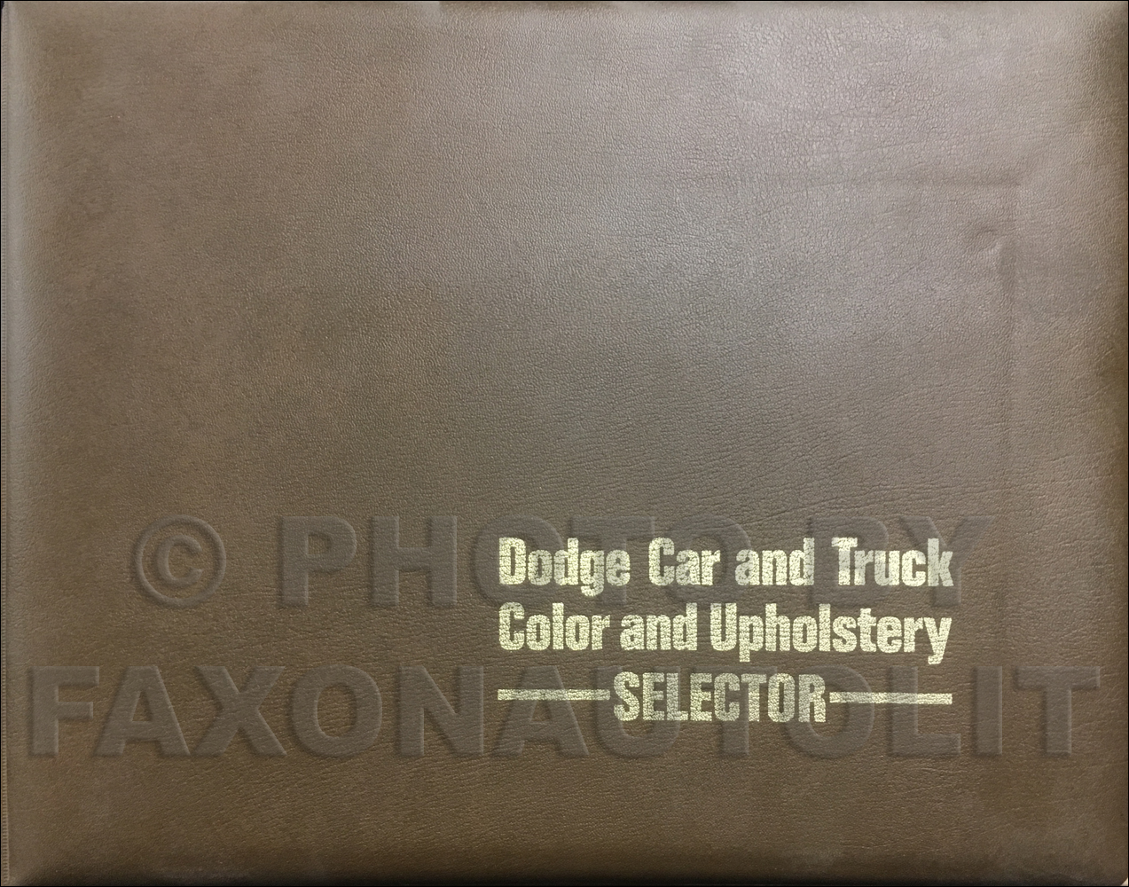 1972 Dodge Color & Upholstery Album Original