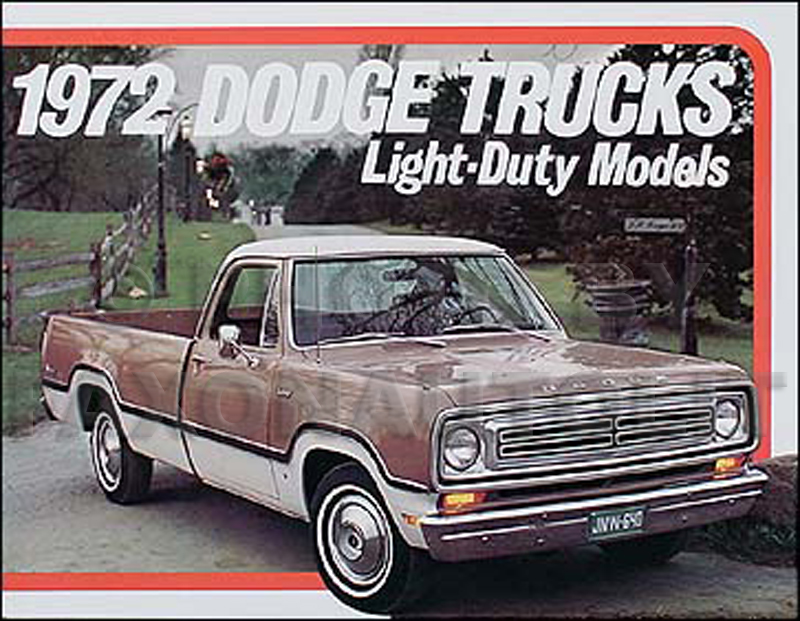 1972 Dodge Pickup Truck Original Sales Catalog