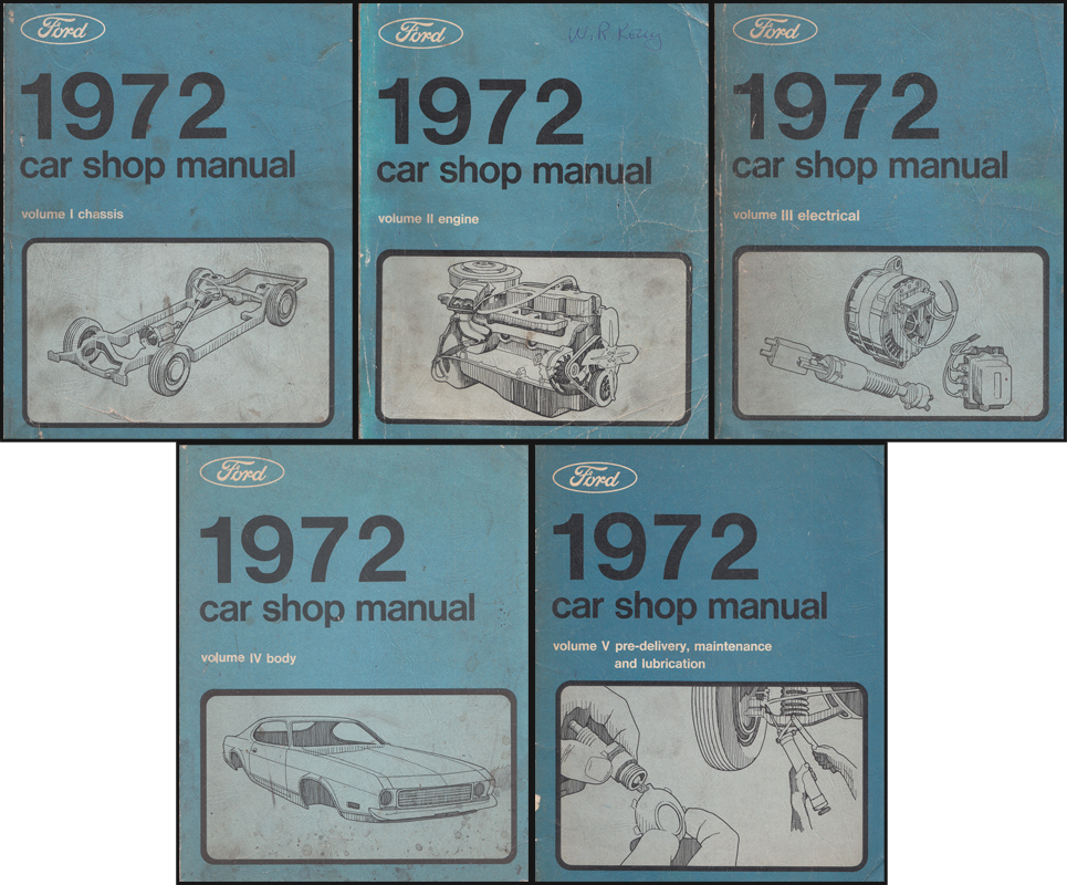 1972 Ford Lincoln Mercury All Car Repair Shop Manual Original 5 Volume Set